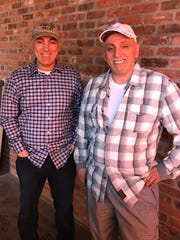 "Giovanni Cucullo, left, and his brother, Peter Cucullo, right, inside the ""construction zone"" that is their new restaurant Maria. Photographed May, 2018"