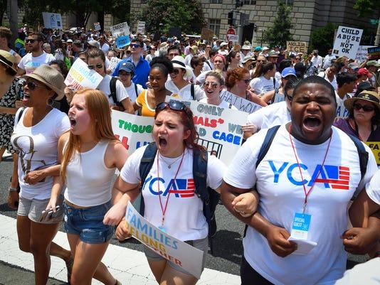 USP NEWS: FAMILIES BELONG TOGETHER RALLY A USA DC