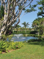The gardens at this Port Royal home are expansive so