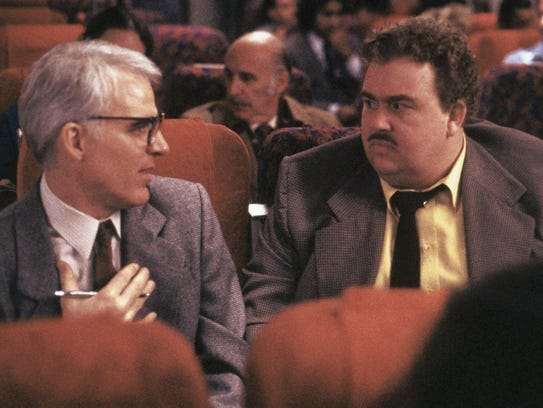 Steve Martin, left, and John Candy in 'Planes, Trains