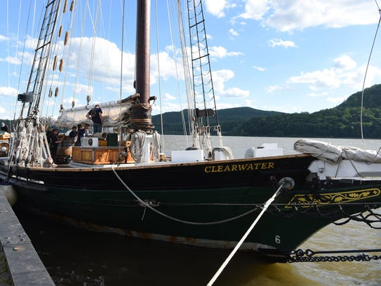 File photo/A view of the sloop Clearwater while docked