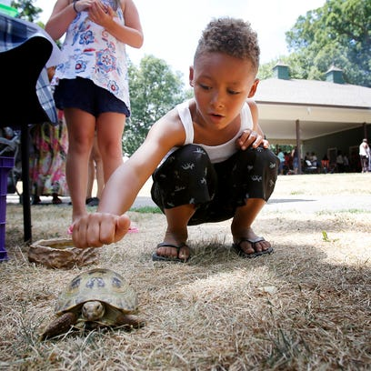 Hundreds of people turned out the the annual Wake Up Elmira Block Party Bash at Grove Park Saturday. The annual event is organized by Mothers Helping Mothers.