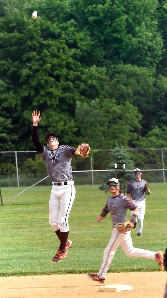 Southern Fulton's Connor Litton, left, grabs a pop-up