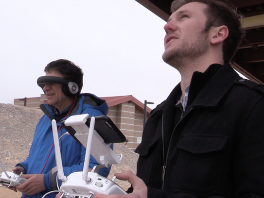 Checking out the Glyph at the Drone Rodeo