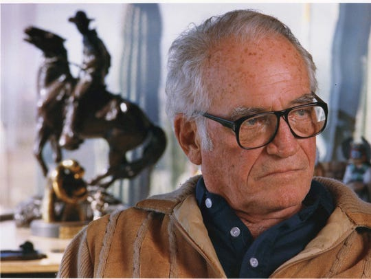 Barry Goldwater during interview at his home in December