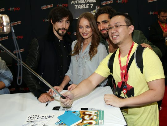 Blake Ritson (far left) last played an antagonist on