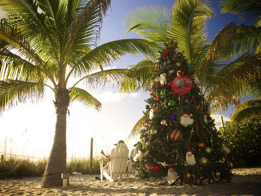 On Christmas Eve, cruise out to a deserted island on Santa's Dolphin & Wildlife Cruise, Port Sanibel Marina, Fort Myers. Santa is waiting with presents.