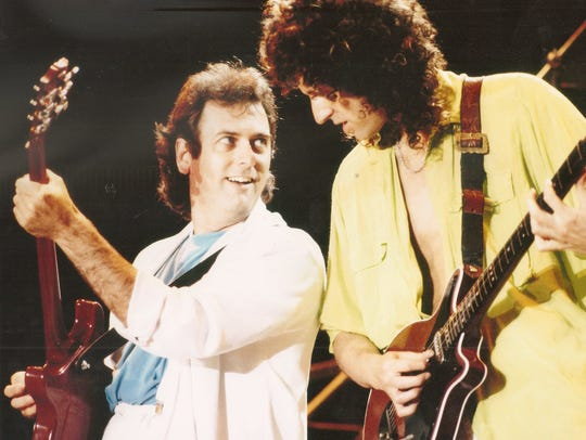 Spike Edney joined Brian May on guitar in Queen in