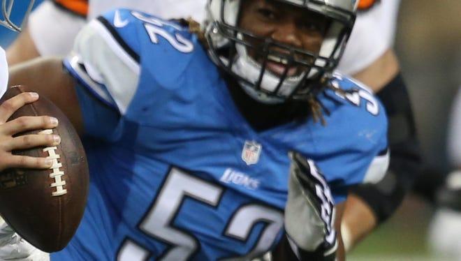 Lions defensive lineman Darryl Tapp