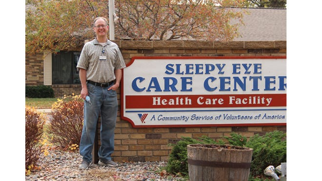 Nathan Pearson, Executive Director of Sleepy Eye Senior Living, is enjoying his new position with VOA and the community of Sleepy Eye.