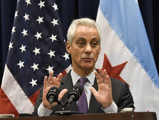 Chicago Mayor Rahm Emanuel is one of three dozen mayors
