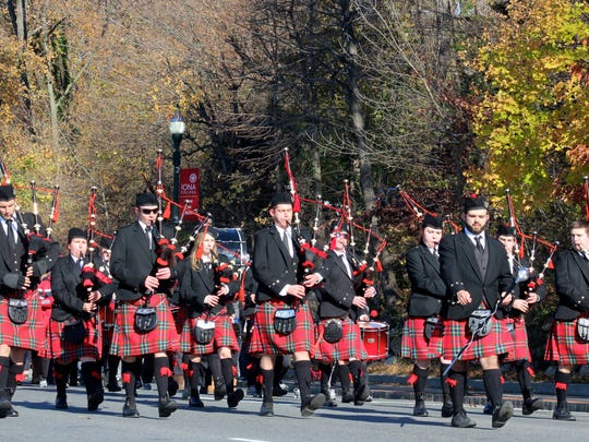 Iona College Bagpipe Band will march in the New York City St. Patrick's Day Parade, March 16.