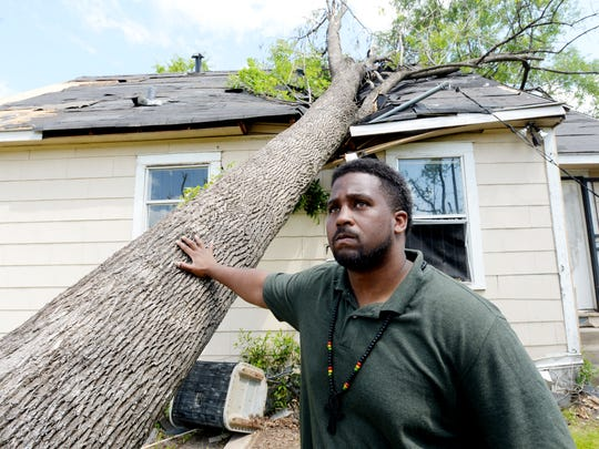 Photo shot in 2018 of Demerrius Norman, president of Queensborough Progressive Citizens, which helped with storm damage.