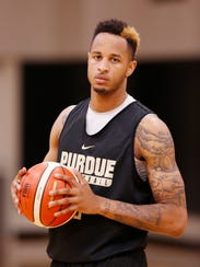 Senior forward Vincent Edwards during Purdue basketball