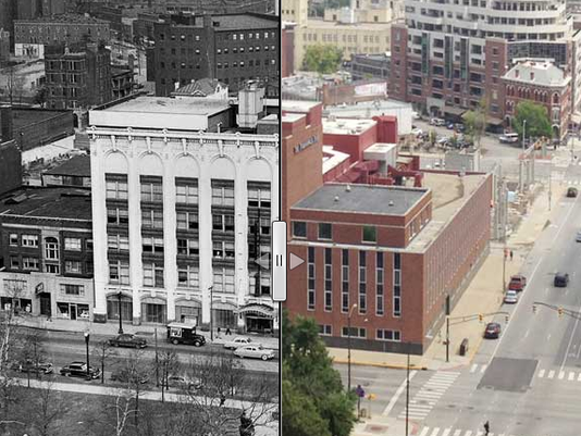 Before and after: 307 N. Penn.