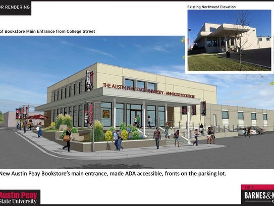 A rendering of the planned bookstore.