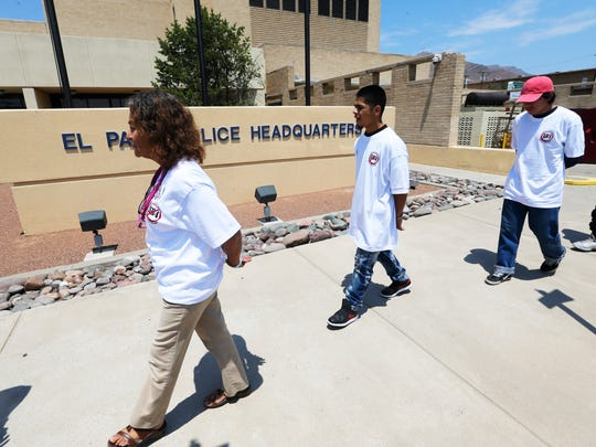 More than 100 protesters with the Border Network for Human Rights marched to the El Paso Police Department in handcuffs in June to protest Senate Bill 4. The law, which is slated to take effect Sept. 1, allows local law enforcement to ask about the immigration status of anyone they detain or arrest.