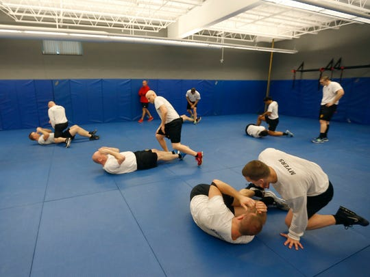 Springfield police recruits train at the Springfield