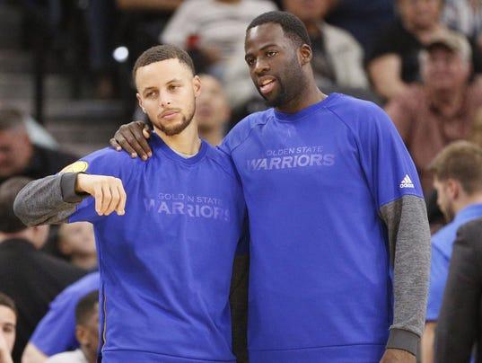 USP NBA: GOLDEN STATE WARRIORS AT SAN ANTONIO SPUR S BKN SAS GSW USA TX