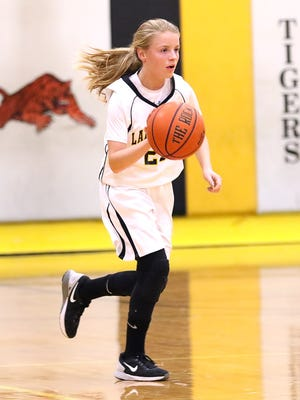 Allie Burgess - Charlotte Middle basketball vs McEwen. Burgess scored 14 points for CMS.