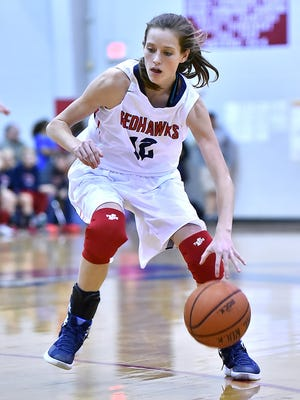 Caroline Edmondson kept the ball moving down the court for Creek Wood during the season opener with Cheatham Co., Nov. 20.