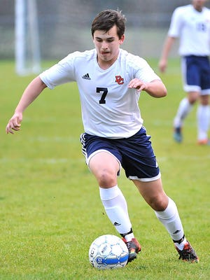 Chase Rampaul scored two goals for Dickson County during the Cougars home win last week over Northwest.