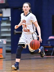 Dickson County's Emily Beard tossed in a game-high 24 points during a 65-37 win over Centennial.