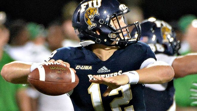 FIU Golden Panthers quarterback Alex McGough (12) will be a test for a Blue Raider secondary that's been inconsistent as of late.