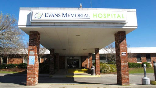 This Thursday, March 9, 2017, photo shows the main entrance to Evans Memorial Hospital in Claxton, Ga. Like many other rural hospitals in the U.S., Evans Memorial has struggled to keep its doors open while treating patients who tend to be older, poorer and often uninsured.