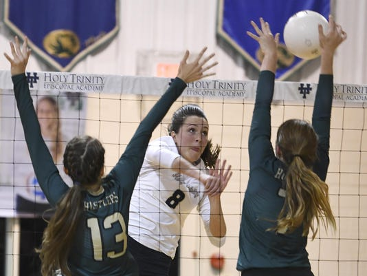 High School Volleyball: Melbourne Central Catholic at Holy Trinity