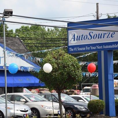 The AutoSourze car dealership at 1327 S. Delsea Drive