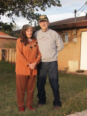 Dave Ayers, 93, served in the United States military for  nearly thirty years. He met his wife Adelina, left, while stationed at Fort Bliss.