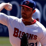 Buffalo Bisons pitcher and International League All-Star LIAM HENDRIKS earned the victory and MiLB.com's 'Top Star' honors at the 2014 Triple-A All-Star Game at Durham Bulls Athletic Park tonight. The IL defeated the Pacific Coast League, 7-3.