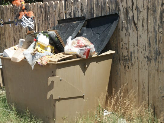 Dumpsters and recycling trailers are frequent targets