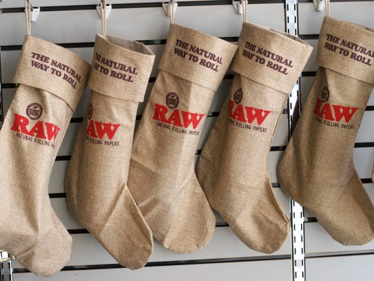 Christmas stockings made from hemp are among many small