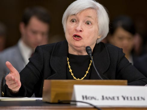 Janet Yellen, President Obama's nominee to succeed Ben Bernanke as Federal Reserve chairman, testifies at her confirmation hearing.