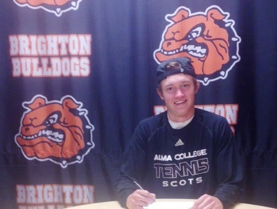 Brighton's Jadon House will play tennis at Alma next