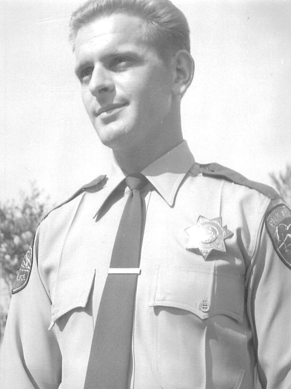 Palm Springs Police Officer Jerry Hestrin, the father