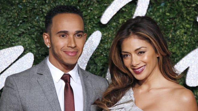 Formula One British driver Lewis Hamilton and his former girlfriend, US musician Nicole Scherzinger.