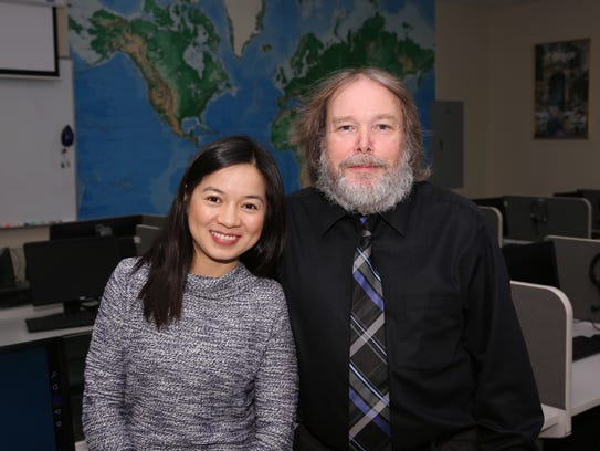 Nguyet Pham with Richard Roy, associate chair of the