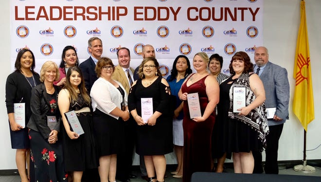 Members of the 2018 Leadership Eddy County cohort on May 31 at the Pecos River Village Conference Center for their graduating ceremonies.