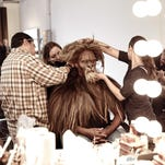 "David Alan Grier is fitted for his role as The Cowardly Lion in ""The Wiz Live!"" in New York. The show airs Thursday."