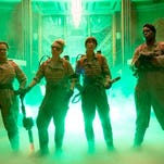 "From left, Melissa McCarthy, Kate McKinnon, Kristen Wiig and Leslie Jones star in the 2016 version of  ""Ghostbusters."""