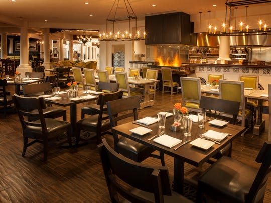 The dining room at Kitchen West and Bar Six40 at The