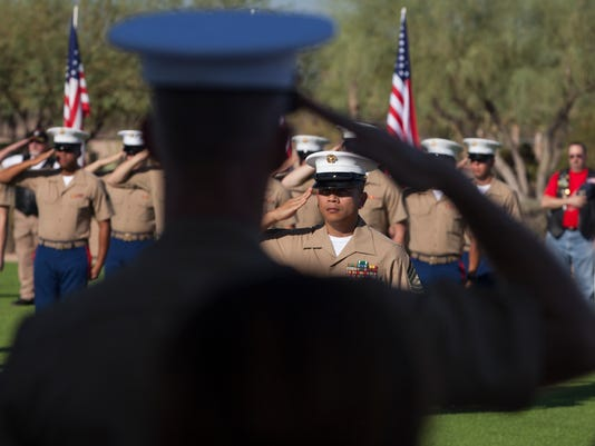 Marines Hold 9/11 Ceremony During Marine Week Phoenix