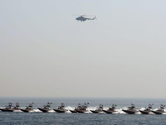 AFP IRAN-MILITARY-GUARDS-DRILL