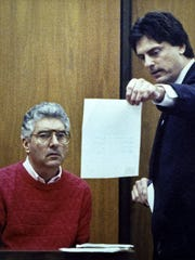 James Mayer Jr. questions Dr. John Boyle in the most famous trial of his career. Boyle got life in prison for the aggravated murder of his wife, Noreen, in 1990.