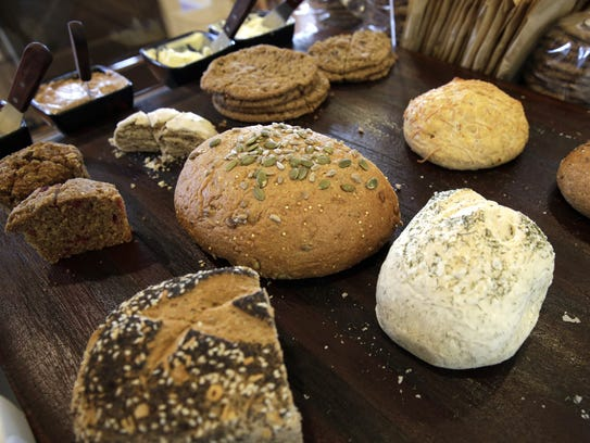 A variety of fresh-made breads and other baked goods