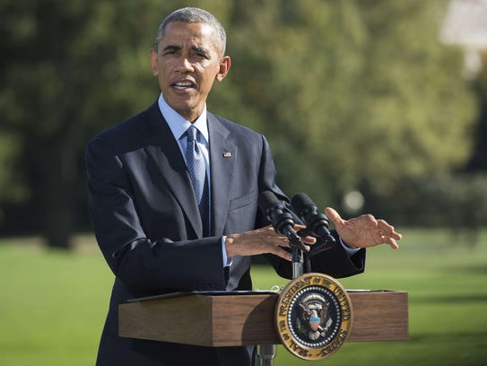 President Obama makes a statement on his administration's
