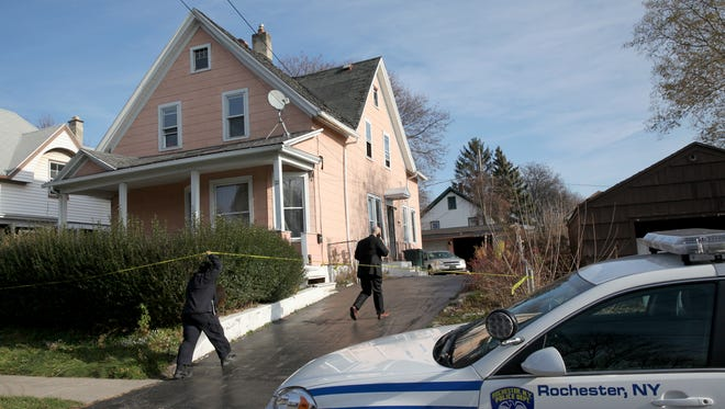 Rochester Police investigate at 22 Harvest St.
